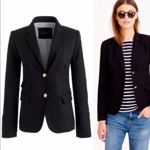 J. Crew | School Boy Blazer Black 6 Women's